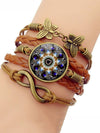 Colorful Mandala Flower Time Gem Bracelet