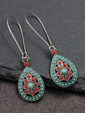 Water Drop Bohemian Silver Women's Earrings