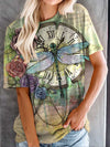 Dragonfly Clock Women T-Shirt Colorful / S