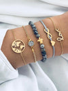 Multi Circle Anchor Love Women's Bracelet