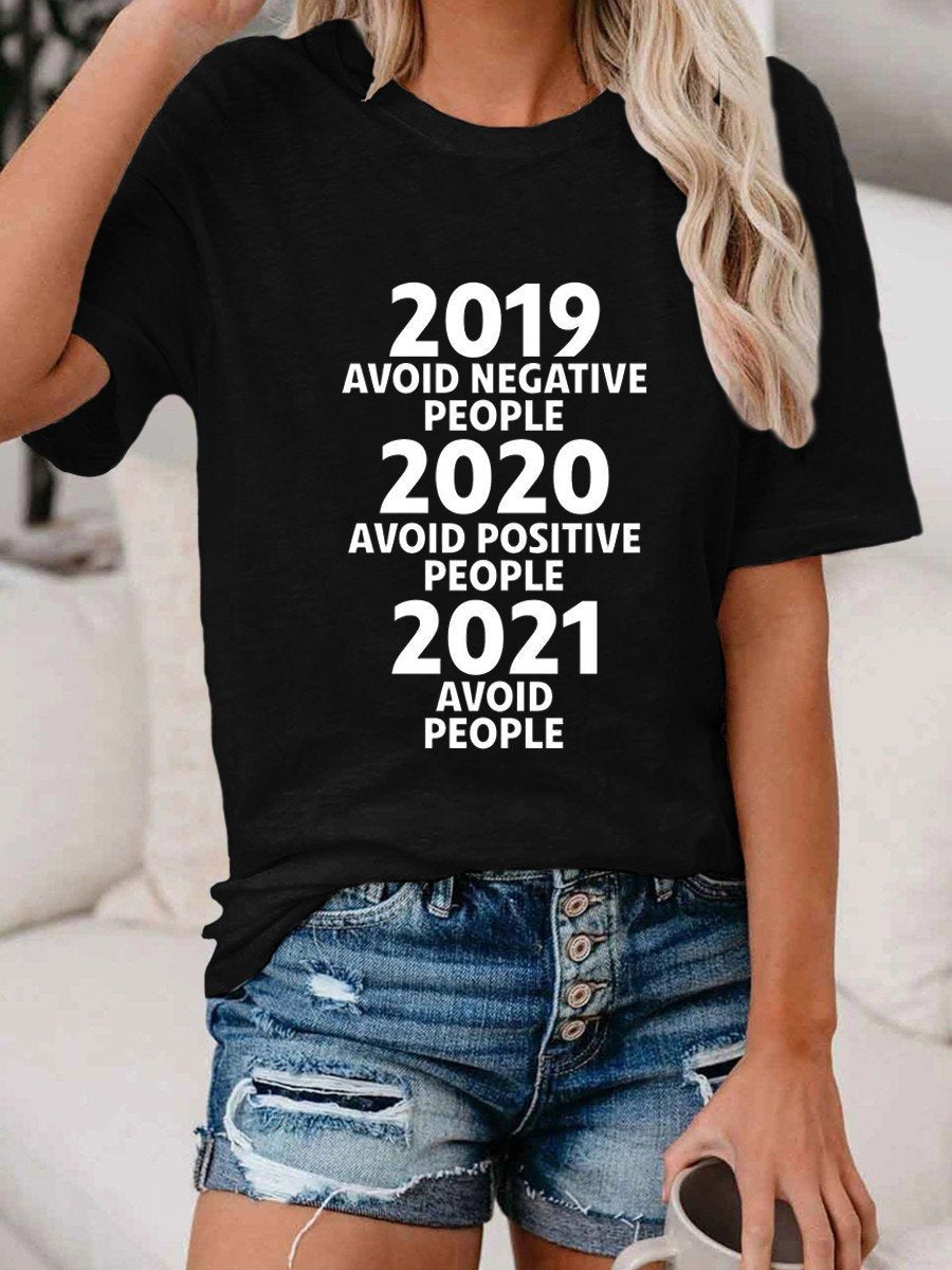 2021 Avoid People T-shirt