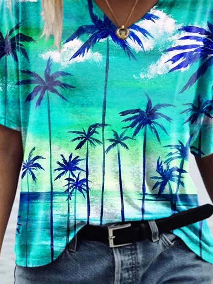 Call for Summer Printed T-shirt