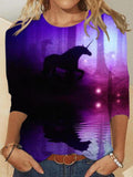 Unicorn Print Women T-Shirt