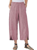 Womens Slim Wide Leg Pants Pink / S