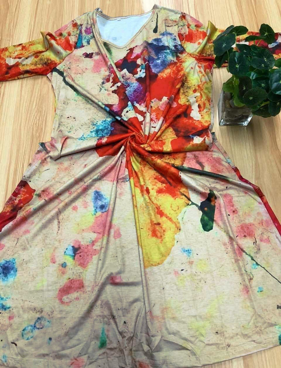 Vintage Map of The World Painting Print Dress