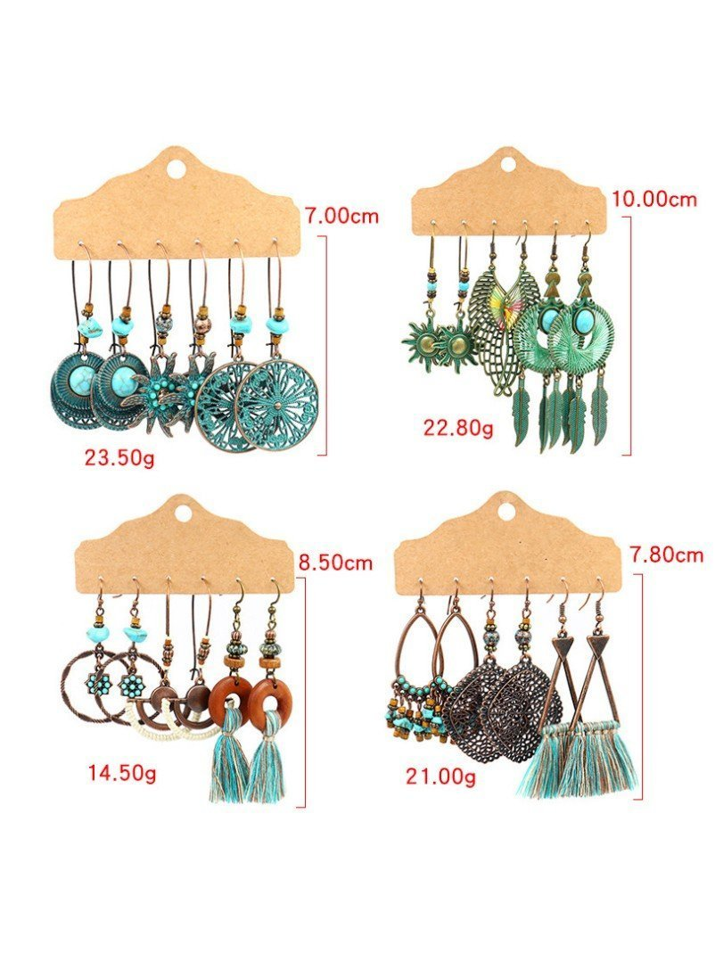 Retro Geometric Tassel Women's Earrings