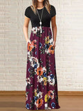 Floral Pocket Maxi Dress Colorful / S