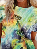 Two turtles illustration women's printed T-shirt