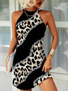 Sparkling Leopard Print Stitching Dress