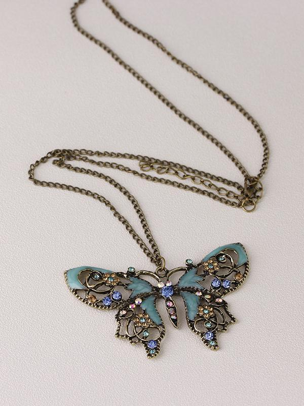 Hollow Out Butterfly Women's Necklace
