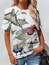Dragonfly Butterfly Woman T-shirt