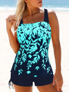Leaf Painting Print Women's Swimsuit