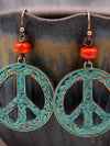 Retro Pattern Hollowed Out Women's Earrings