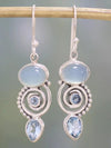 Sea Blue Topaz Women's Earrings