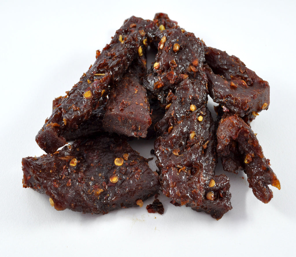carolina reaper smoked steak strips 3 ounces dave s meat nuts
