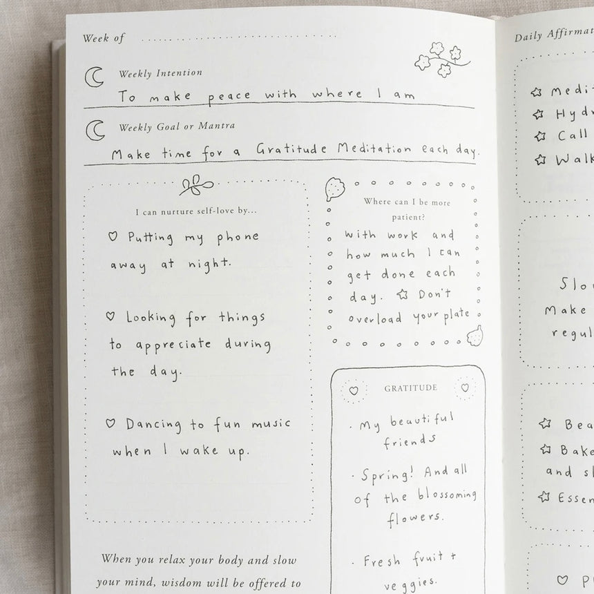 A Year of Coming Home Guided Self-Love Journal