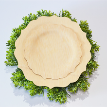 Load image into Gallery viewer, Fancy Compostable Bamboo Plates (Set of 8)