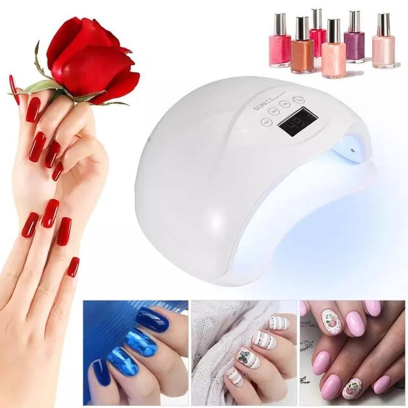 54W SUNX UV nail dryer lamp 48W SUNone Sun5 led nail lamp cure nail uv gel fast dry no Heat Auto Sensing Lamp For Manicure Nail Dyer Lamp SMART TECH & ACCS