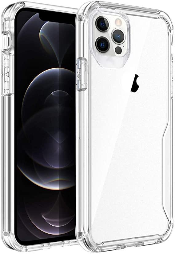 Smarttech's Clear iPhone 12 Pro/iPhone 12 Case with Shock-Absorption Bumper, Soft Flexible TPU Yellowing-Resistant Crystal Slim Cover, Scratch-Resistant Protective Case 6.1 inch SMART TECH & ACCS