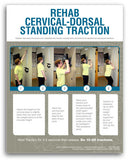 Certainty Rehab - Cervical-Dorsal Standing Traction Rehab Poster