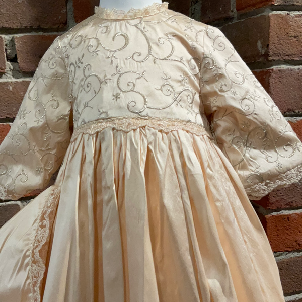 100% Silk Christening Gown
