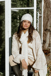 Heather Knit Beanie - Cream