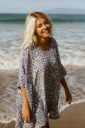 Original Oversized Top - Navy Leopard