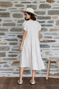 Summer Grove Midi Dress - Natural Linen