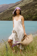 Hi Low Strappy Dress - Natural Linen