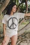 Come Together Flag Tee - Almond & Charcoal