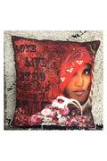 Indian Girl Cushion Cover