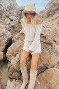 Dreams are free linen romper