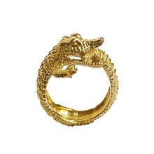 Load image into Gallery viewer, crocodile ring/ gold