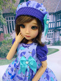 April Showers - romper & pinafore for 45cm BJD