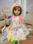 Precious Kittens - romper & pinafore for 45cm BJD