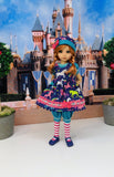 Unicorns & Rainbows - romper & pinafore for 45cm BJD