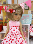 Argyle Hearts - dress with shoes for Ruby Red Fashion Friends doll