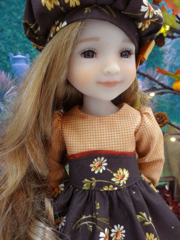 Autumn Daisy - dress for Ruby Red Fashion Friends doll