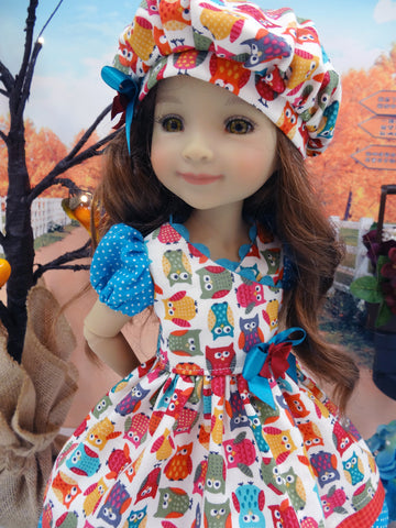 Autumn Owls - dress for Ruby Red Fashion Friends doll