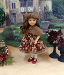 Autumn Paisley - dress & capelet for Ruby Red Fashion Friends doll