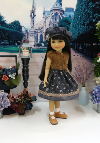 Autumn Shadows - dress & sweater for Ruby Red Fashion Friends doll