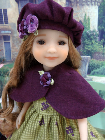 Autumn Violets - dress & capelet for Ruby Red Fashion Friends doll
