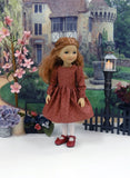 Avonlea Autumn - dress & apron for Ruby Red Fashion Friends doll