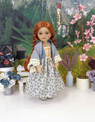 Bavarian January - dirndl style ensemble with boots for Ruby Red Fashion Friends doll