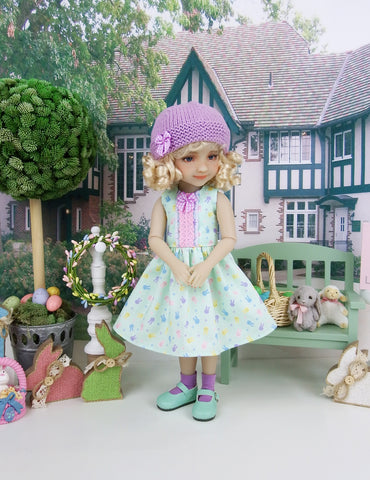Bunny Face - dress and hat with shoes for Ruby Red Fashion Friends doll