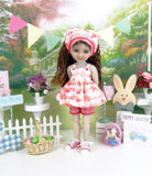 Bunny Kisses - top & shorts with shoes for Ruby Red Fashion Friends doll