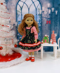 Candy Cane Christmas - dress & apron for Ruby Red Fashion Friends doll