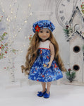Cardinals in Frost - dress ensemble for Ruby Red Fashion Friends doll