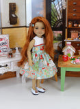 Christmas Baking - dress with shoes for Ruby Red Fashion Friends doll