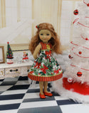 Christmas Bow - dress for Ruby Red Fashion Friends doll
